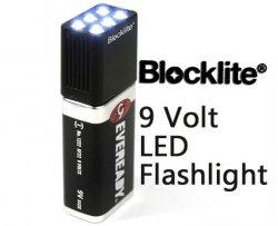 [Gadget] Blocklite LED Aufsatz für 9V Batterien für 5,90€ (incl.Versand + Batterie) @ebay