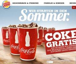 Gratis ein kleines Softgetränk bei Burger King – Nur bis Sonntag