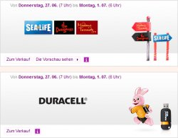 Großer Freizeitparkt Tickets- (Sealife, The Dungeons, Madame Tussauds) und Duracell-Sale @Vente-Privee
