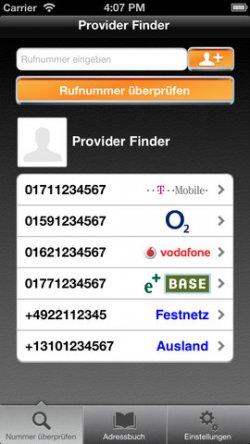 [iOS] Provider Finder – Derzeit als kostenlose APP
