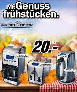 [Lokal/Online] Kafeeautomat, Toaster und Wasserkocher für je nur 20€! @Mediamarkt