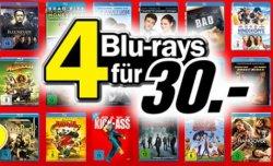 Media Markt | 4 Blu-rays kaufen 30€ zahlen, keine Versandkosten.