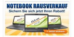 Notebook Rausverkauf! – satte Rabatte sichern! @Medion (z.B. 299€ statt 379€ (Idealo))