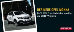 [Opel] Probe fahren und 1000 Payback (10€) Punkte kostenlos erhalten!