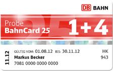 Probe BahnCard – 25% Ermäßigung für bis zu 5 Personen – Start am 1. Juli