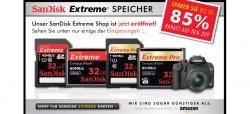 SanDisk Extreme + Extreme Pro Speicherkarten mit bis zu 85% Rabattauf UVP + kostenloser Lieferung @zoombits