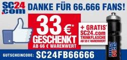SC24.com | 33,- Euro Gutschein ab 66€ Bestellwert + gratis Trinkflasche