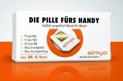 Simyo Prepaidkarte mit 30 Tage kostenlose Internetflat