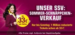 Sommer Schnäppchen verkauf | 1Mio. Germanwings Flugtickets ab 33€ Nur bis Sonntag 23:59