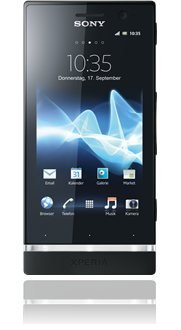 Sony Xperia U black, für 99 € ohne Vertrag bei Base!