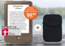 tolino shine eReader 99,99€ + gratis Tasche (14,99€ wert)