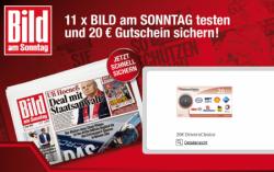 11x BILD am Sonntag inkl. Bild+ mit bis zu 6,30€ Gewinn
