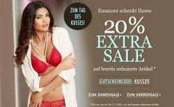20% extra Rabatt auf bereits reduzeirte Ware – vieles schon bis zu 50% reduziert bei enamora +Keine Versandkosten