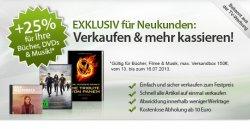 +25% auf Verkäufe von Büchern, DVDs & Musik – nur für Neukunden @rebuy.de