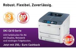 250€ und 119€ Cashback beim Kauf eines OKI-Laserdruckers @oki.de