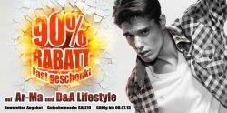 90% Rabatt auf Klamotten der Marken AR-MA und D&A Lifestyle bei hoodboyz.de