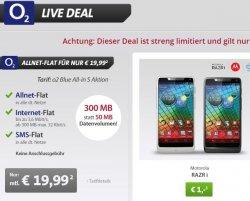 Sparhandy LIVE DEAL: Allnet-Flat für nur 19,99 + keine Anschlussgebühr + Samsung S3 Mini und weitere für 1,- Euro + 300MB statt 50MB Datenvolumen