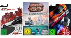 Amazon-Deal PC-Games der Woche als Download, z.B. ANNO 2070 oder NFS ab 8.97 EUR