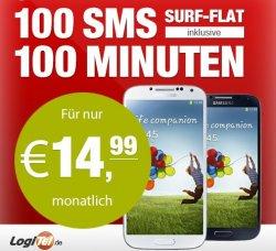 BEST PRICE: Samsung Galaxy S4 Handy mit Vertrag (mit iFlat) für 487,80 EUR @Logitel auf eBay.de