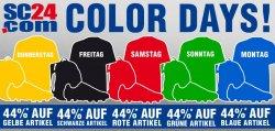 Color Days – Jeden Tag 44% Rabatt auf eine andere Farbe @SC24