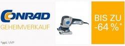 Conrad.de Geheimverkauf bis 15. Dezember bei eBay: bis 44% auf Profi-Werkzeuge