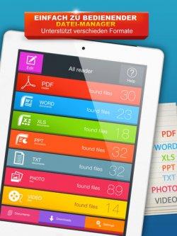 Derzeit Gratis bei iTunes: PDF, DOC, XLS, PPT, TXT Reader HD-APP statt 0,89€ [iOS]
