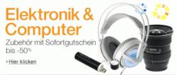 Elektronik-Zubehör extrem reduziert! — bis zu -50%! — z.B. Smartphone, Kamera, TV,… @Amazon