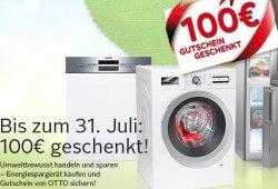 Energiespar-Bonus: 100€ OTTO Gutschein beim Kauf von Waschmaschinen,… @OTTO