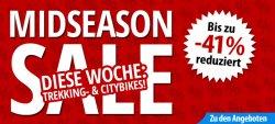 Fahrrad.de – Bis zu 41% reduzierte Trekkings & Citybiks im Midseason Sale +5% Gutschein Rabatt