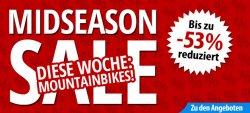 [Fahrrad.de] Bis zu -53% auf Mountainbikes im Midseason Sale + 10€ Gutschein (50€ MBW)