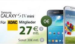 Für ADAC Mitglieder: Samsung Galaxy S4 Mini oder S4 mit BASE All-IN Flat monatlich nur 27€ bzw. 29€, 0€ Aufpreis @eteleon