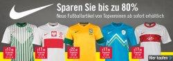 Fußball Trikots von Nike für 17,99€ z.B. Brasilien, Polen, Portugal uvm. Bis zu 80% sparen