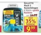 [Lokal] Gillette mach 3: Rasierer inklusive 7 Klingen für 9,99€ ab heute bei Rossmann
