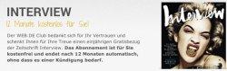 Gratis Abos: 6 Monate Grazia oder 12 Monate Interview für web.de Club Mitglieder – selbstkündigend
