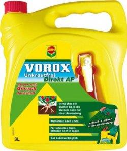 Gratis statt 63€ – 3 x 3 Liter COMPO Vorox Unkrautfrei dank Casback gratis