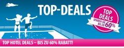 Hotel Top Deals – bis zu 60% Rabatt + extra 20% Rabatt durch Gutscheincode @eBookers