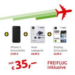iPhone Zubehör für 35€ kaufen und gratis Hin- und Rücklug nach ganz Europa sichern! @mStore