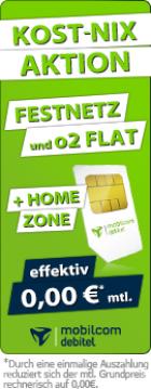 Kost-Nix-Aktion: Festnetz Flat + O2 Flat für eff. 0€/Monat @Preisbörse24