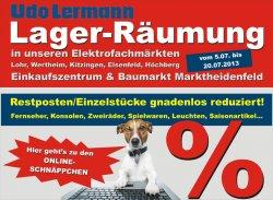 Lager-Räumung – Restposten,… Reduziert! – Elektronik, Sport, Baumarkt,… @Udo Lerman