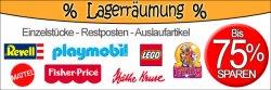 Lagerräumung bis zu 75% Rabatt auf Lego, Playmobil, Matell uvm + Hello Kitty bis zu -50% Rabatt. Und anderen Schnick Schnack Preise ab 0,14€