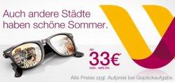 Noch bis morgen für 33€ in europäische Städte fliegen mit germanwings