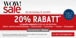 Nur bis Sonntag 14.7 – 20% Extra Rabatt auf Sale Artikel @Karstadt