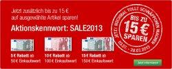 Sale mit bis zu 15€ Rabatt und 10% Extra-Rabatt und versandkostenfrei (ab 19,95€) bei Galeria Kaufhof