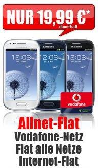 Samsung Galaxy S3 mini Aktion mit All-Net Flat für 19.99 € im Monat @handybude.de