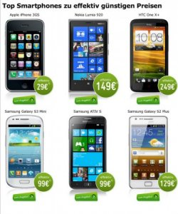 Samsung Galaxy S3 mini für 99€ mit Schubladenertrag, u. andere Handys @Modeo