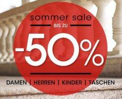 Sommer Sale mit bis zu 50% Rabatt auf Herren- und Damenschuhe @javari