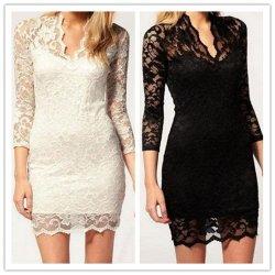V-Ausschnitt Spitzenkleid / Ball-Abendkleid – verschied. Größen und Farben nur 4,99€ inkl Versand @eBay