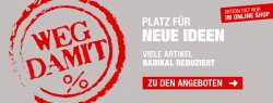 Weg damit: Ausverkauf + 15€ Rabatt ab 100€ Mindestbestellwert @Hellweg Baumarkt (Online)