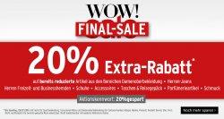 WOW! Final-Sale + Vorteilskauf! — 6 versch. Rabatte! @Kasrstadt (Online/ Offline)