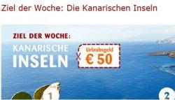 Ziel der Woche bei opodo.de: Die Kanarischen Inseln mit 50 Euro Gutschein
